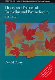 Cover of: Theory and Practice of Counseling and Psychotherapy