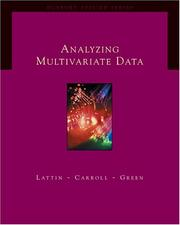 Cover of: Analyzing Multivariate Data (with CD-ROM) (Duxbury Applied Series)