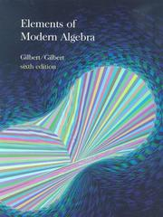 Cover of: Elements of Modern Algebra