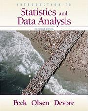 Cover of: Introduction to Statistics and Data Analysis (with CD-ROM and Internet Companion)