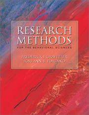 Cover of: Research Methods for the Behavioral Sciences With Infotrac