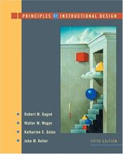 Cover of: Principles of Instructional Design