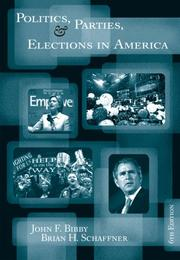 Cover of: Politics, Parties, and Elections in America