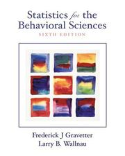 Cover of: Statistics for the Behavioral Sciences (with InfoTrac)