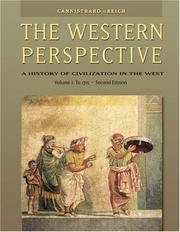 Cover of: The Western Perspective: Prehistory to the Enlightenment, Volume 1