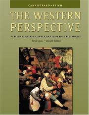 Cover of: The Western Perspective: A History of Civilization in the West, Alternative Volume
