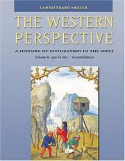 Cover of: The Western Perspective: The Middle Ages to World War I, Volume B