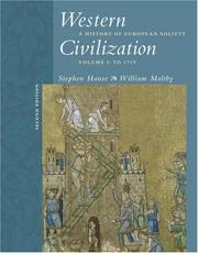 Cover of: Western Civilization: A History of European Society, Volume I