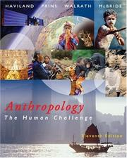 Cover of: Thomson Advantage Books: Anthropology: The Human Challenge