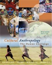 Cover of: Thomson Advantage Books: Cultural Anthropology: The Human Challenge