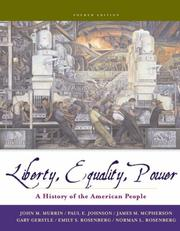 Cover of: Liberty, Equality, and Power