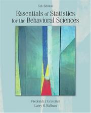 Cover of: Essentials of Statistics for the Behavioral Sciences