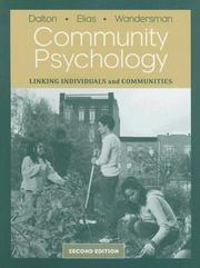 Cover of: Community Psychology