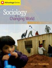 Cover of: Thomson Advantage Books: Sociology in a Changing World