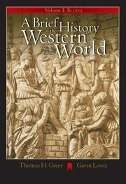 Cover of: A Brief History of the Western World, Volume I