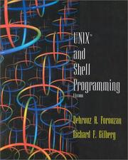 Cover of: UNIX and Shell Programming