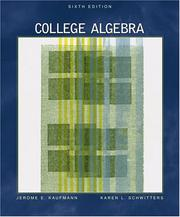 Cover of: College Algebra (with CD-ROM ) - 6Th Edition
