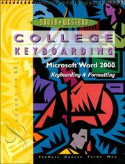 Cover of: College Keyboarding, Microsoft Word 2000, Lessons 1-60