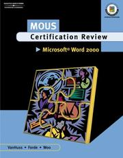 Cover of: MOUS Certification Review, Microsoft Word 2000, Student Text