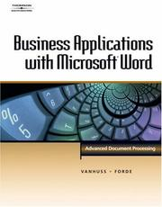 Cover of: Business Applications with Microsoft  Word