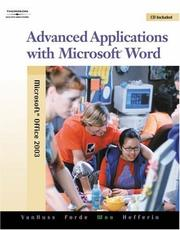 Cover of: Advanced Applications with Microsoft Word (with Data CD-ROM)