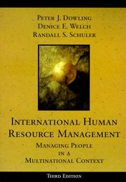 Cover of: International Human Resource Management