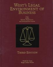 Cover of: West's Legal Environment of Business
