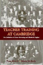 Cover of: TEACHER TRAINING AT CAMBRIDGE