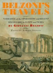 Cover of: Belzoni's Travels