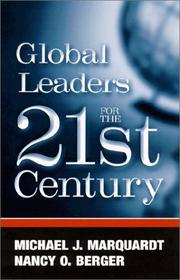 Cover of: Global Leaders for the 21 Century (Suny Series in Management-Communication)