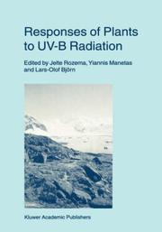 Cover of: Responses of plants to UV-B radiation