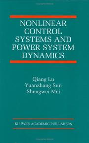 Cover of: Nonlinear control systems and power system dynamics