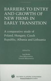 Cover of: Barriers to entry and growth of new firms in early transition