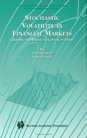 Cover of: Stochastic Volatility in Financial Markets
