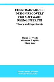 Cover of: Constraint-Based Design Recovery for Software Reengineering