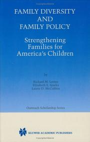 Cover of: Family Diversity and Family Policy - Strengthening Families for America's Children (KLUWER INTERNATIONAL SERIES IN OUTREACH SCHOLARSHIP Volume 2) (International Series in Outreach Scholarship)