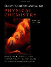 Cover of: Student's Solutions Manual for Physical Chemistry, Seventh Edition