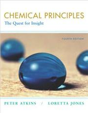 Cover of: Chemical Principles