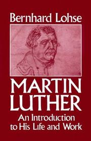 Cover of: Martin Luther An Introduction to His Life and Work