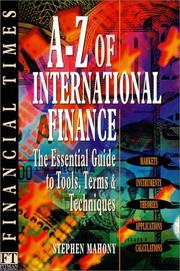 Cover of: A-Z of international finance