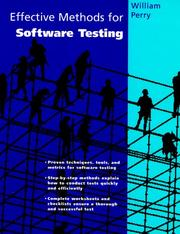 Cover of: Effective methods for software testing: includes complete guidelines, checklists, and templates