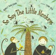 Cover of: So Say the Little Monkeys