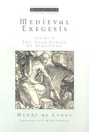 Cover of: Medieval Exegesis Vol 2 (Ressourcement: Retrieval & Renewal in Catholic Thought)
