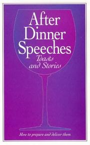 Cover of: Formal After Dinner Speeches and Stories