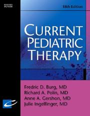 Cover of: Current Pediatric Therapy (Current Therapy)