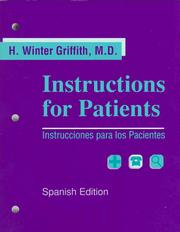 Cover of: Instructions for Patients/Instrucciones Para Los Pacientes