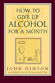 Cover of: How to Give Up Alcohol for a Month