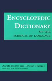 Cover of: Encyclopedic Dictionary of the Sciences of Language (Softshell Books)