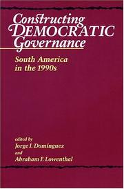 Cover of: Constructing Democratic Governance