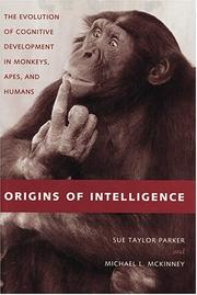 Cover of: Origins of Intelligence